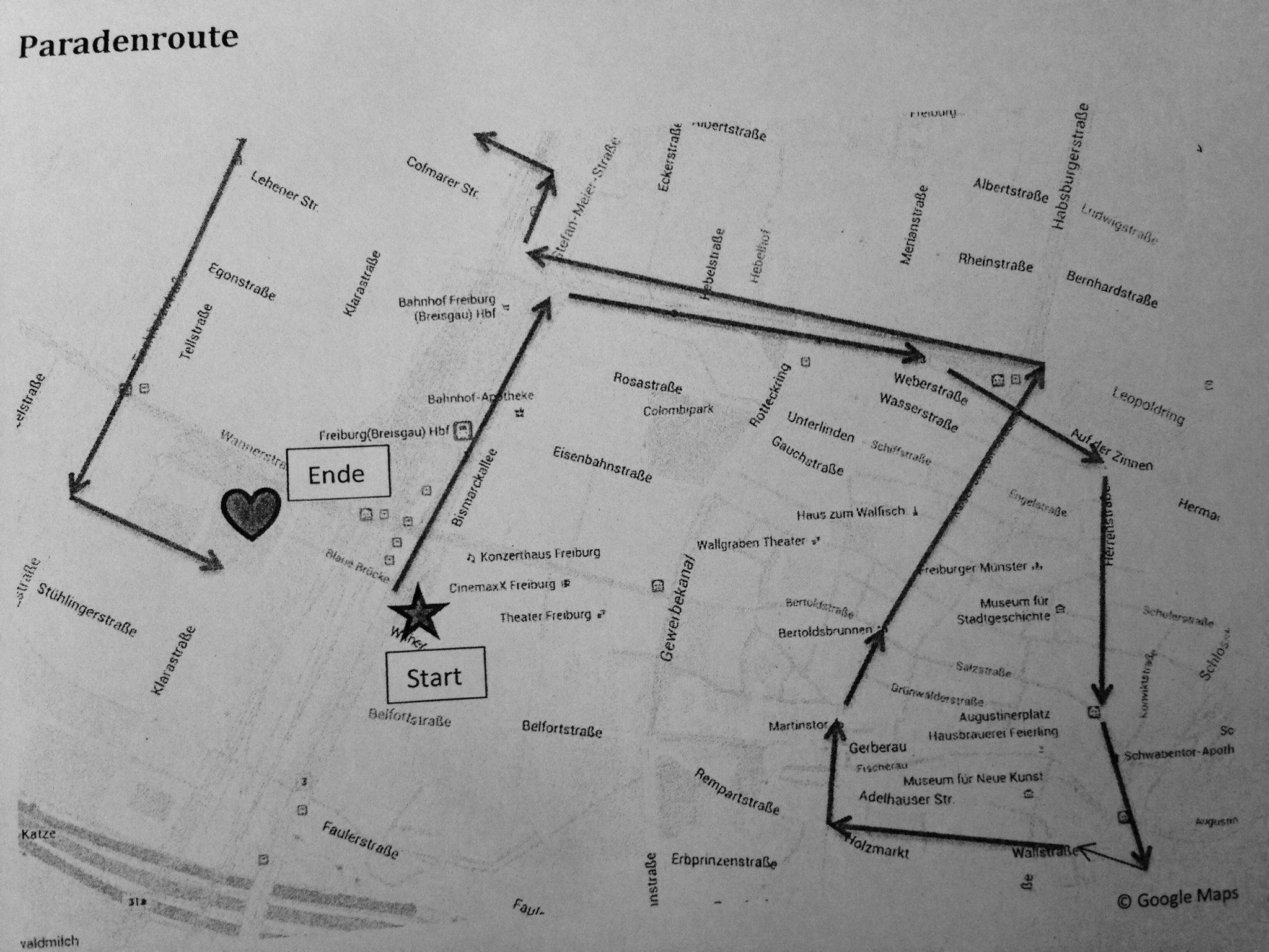 Route CSD Freiburg 2016
